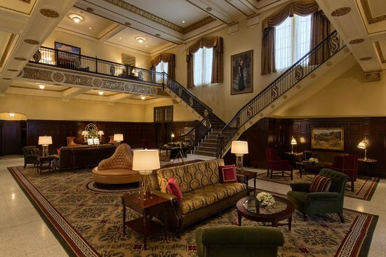 Lobby and Grand Staircase at Hotel Settles