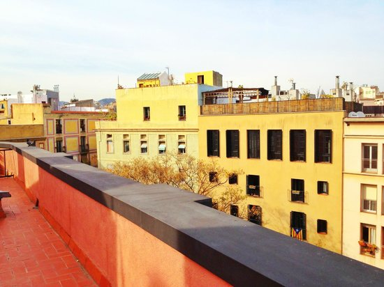 Allada Apartments: view from roof garden