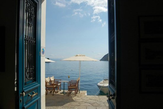 Aliki Hotel: View from the front door