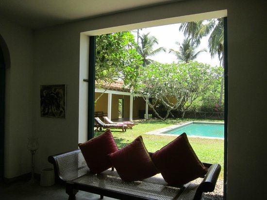 The Last House : View from common room towards pool