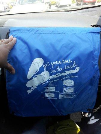 "Hampton Inn Pensacola Beach: Beach Bag for going to FB and ""liking"""