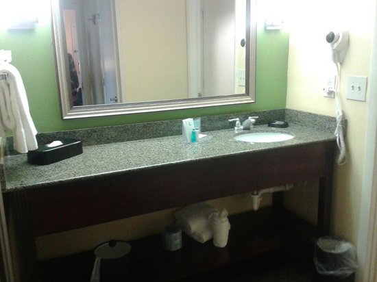 Hampton Inn & Suites Ft. Lauderdale Airport/South Cruise Port: sink area and seperate bathroom