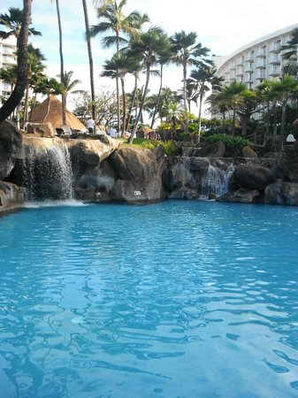 Westin Maui Resort And Spa: One of the pools with waterfalls (you can go 'inside' the big one- there is a jacuzzin [sp?] ins