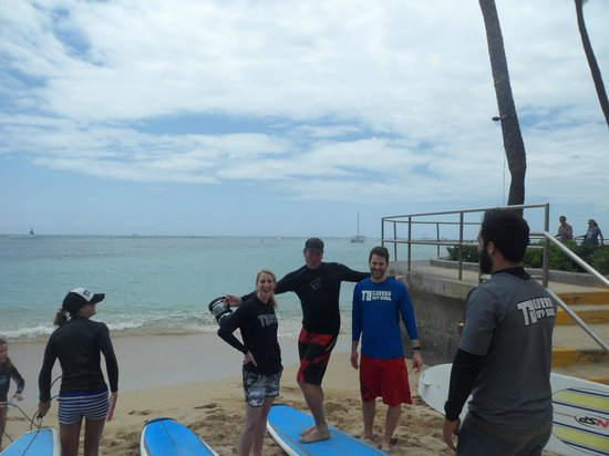 Ty Gurney Surf School : Just before the lesson