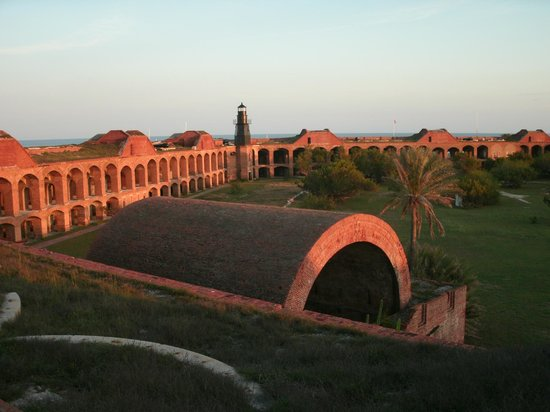 FishMonster Charters: Fort Jefferson courtyard