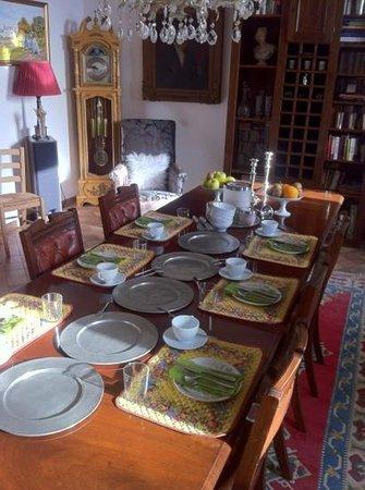 Bellaugello: il tavolo colazione