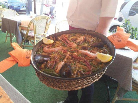 Restaurante Brisas Palmanova: Paella at the Restaurante Brisas