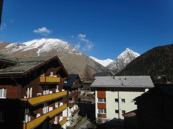 Hotel Walser: Looking east from room balcony.