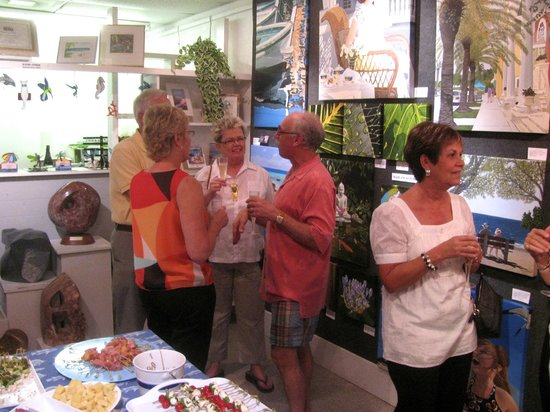 Free monthly ArtWalk events from Nov.-Apr. at Island Gallery West
