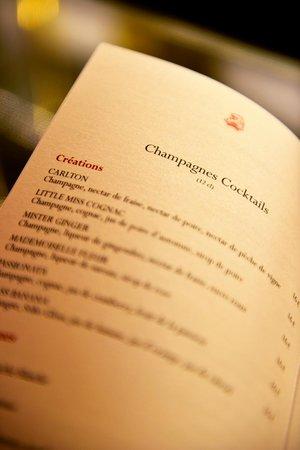 Hotel Carlton Lyon - MGallery Collection: détails carte bar carlton