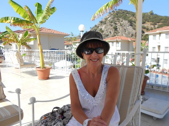 Blue Lagoon Hotel: having a lovely relax on sun terrace