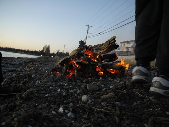 Sandcastle at Birch Bay: Beach fires are permitted. Buy wood at the corner store.
