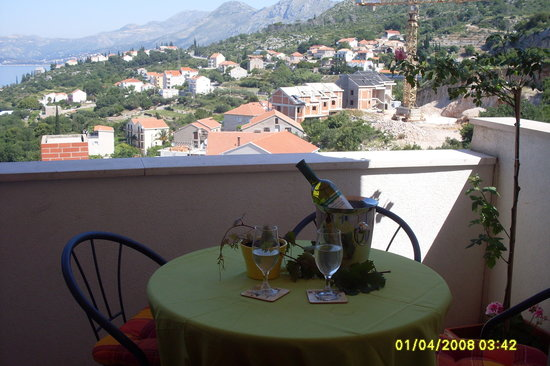 Apartments Zvrko: one of the balconies