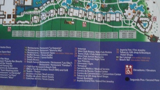 Map Picture Of Grand Riviera Princess All Suites Resort