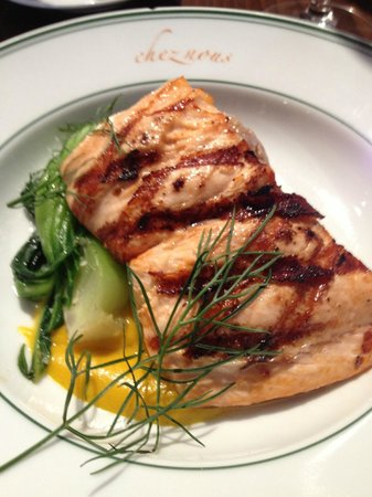 Chez Nous : a half-portion of organic Scottish Salmon