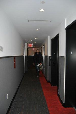 Pod 39 Hotel : Couloir