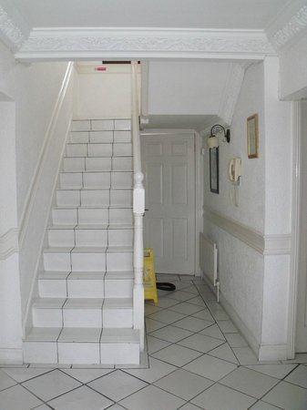 The White House: White tiled stairs