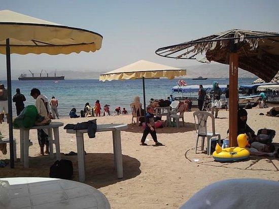City Beach: public tourist beach, Aqaba