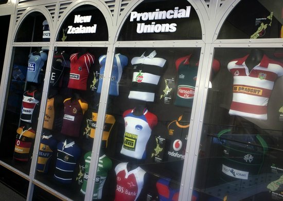 New Zealand Rugby Museum: New Zealand Provincial Jersey display