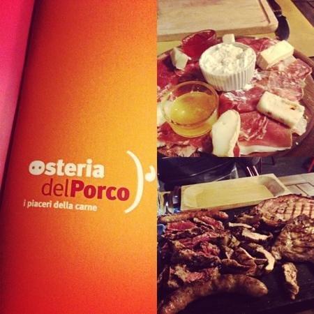 Osteria del porco: antipasto misto e Grigliata!