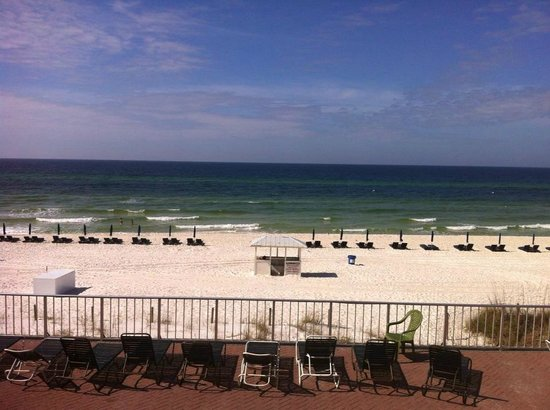 Beach from patio area  Picture of Flamingo Motel, Panama City Beach