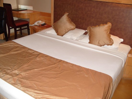 Bell Hotel and Convention Centre: the double bed