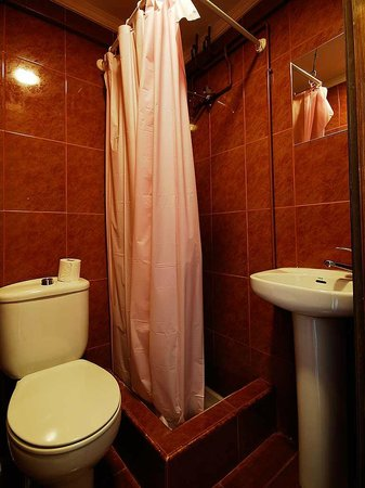 Hostal Bocanegra: Typical ensuite downstairs