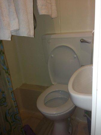 Romanos Hotel : Bagno camera doppia con letti singoli.