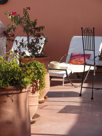 Riad L'Orange Bleue : Terraço