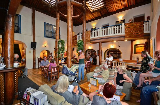 The Historic Taos Inn: The Taos Inn and Adobe Bar Lobby - The Living room of Taos!