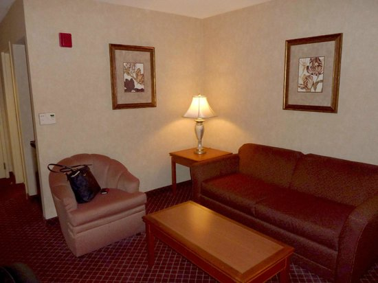 Best Western Plus Media Center Inn Suites Living Room Area Of Standard Suite