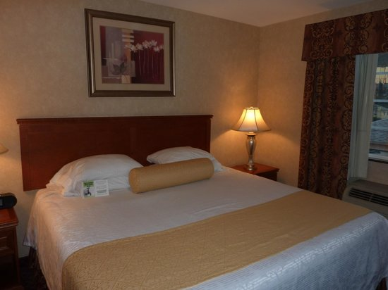 Best Western Plus Media Center Inn & Suites: King bed, standard suite, very comfy.
