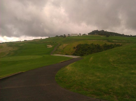 The Lodge at Kauri Cliffs: Looking towards the lodge from the golf course.