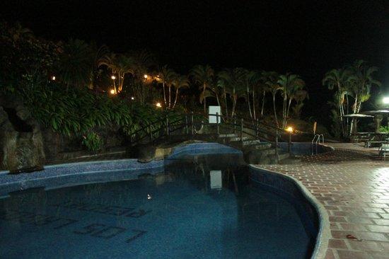 Los Lagos Hotel Spa & Resort: Piscinas del Hotel los Lagos de noche