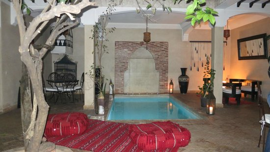 Riad l'Oiseau du Paradis: Courtyard and dipping pool