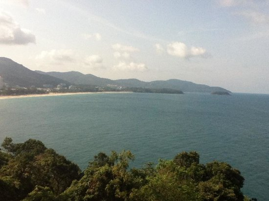 Secret Cliff Resort: View from Restaurant to Karon Beach