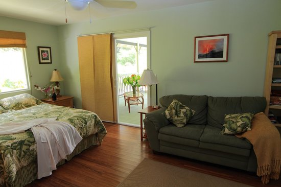 The Ohia House: Your room adjoining the lanai.