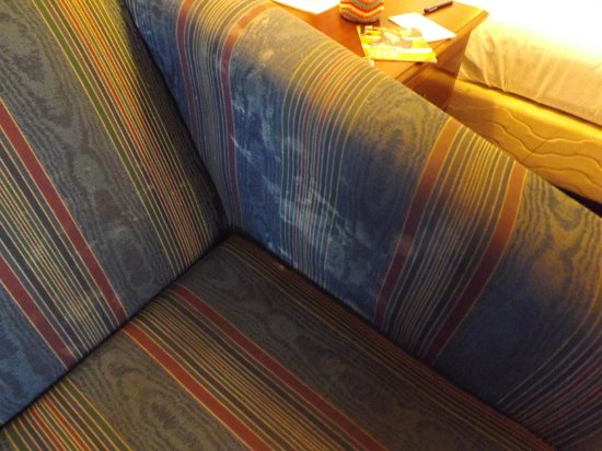 Marina Bay Inn & Suites: Stains on the couch