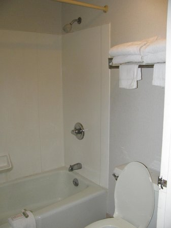 Raintree Inn: the bathroom after check in