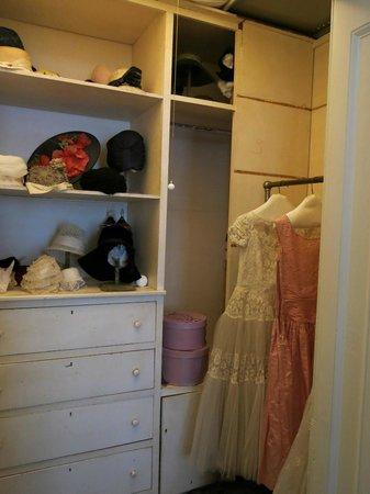 Goodwood Museum and Gardens: interior of a woman's closet