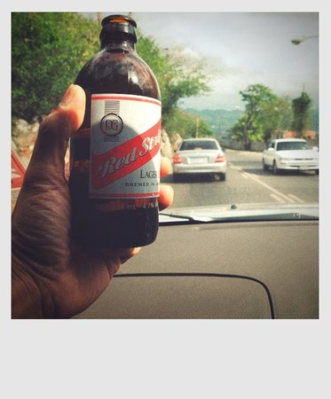 Turner Taxis and Tours Jamaica: and off course the ice cold Red Stripe beer