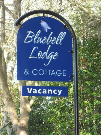 Bluebell Lodge and Cottage : Bluebell Lodge Sign in Garden