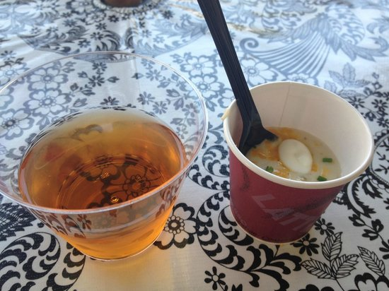 Old Towne Orange Walking Food Tours: tea & baked potato soup (Paris in a Cup)