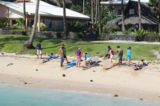 The Boardwalk at Cloud 9: Surfing lessons right outside the inn.