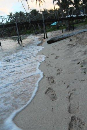 Boardwalk on Cloud 9 Surf Resort: Beach outside the inn.