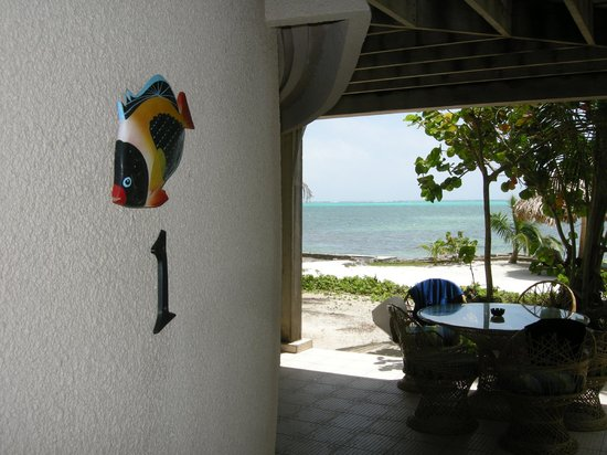 Xanadu Island Resort: Caribbean Sea from our wrap-around patio.