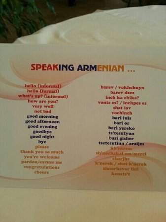 BEST WESTERN Congress Hotel: Speaking Armenian :)