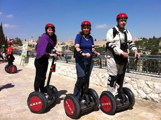 Zu-Zu Segway Tours: in front of the old city of Jerusalem
