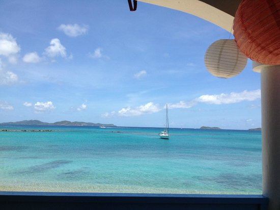 """Fischer's Cove Beach Hotel: View at breakfast from the """"Cove"""""""