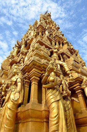 Shri Mariamman Temple: main gopuram, shot from rooftop